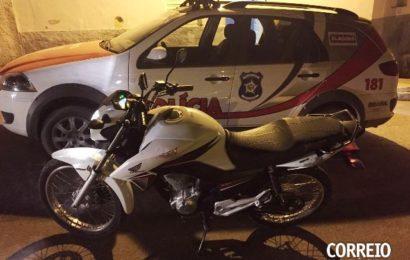 Moto roubada em Pernambuco é recuperada durante ação policial em Mata Grande